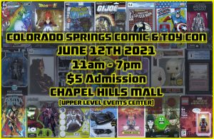 Colorado Springs Comic and Toy Con presented by Peak Radar Live: Counterweight Theater Lab's 'Dream by Day' at Chapel Hills Mall, Colorado Springs CO