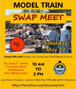 Model Train Swap Meet presented by Peak Radar Live: Counterweight Theater Lab's 'Dream by Day' at Chapel Hills Mall, Colorado Springs CO