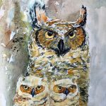 Owl Art Exhibition presented by  at ,
