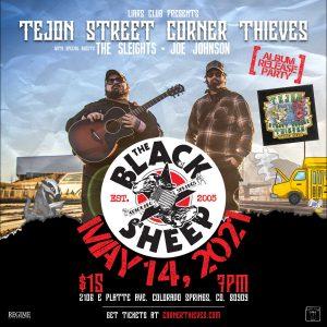 Tejon Street Corner Thieves presented by The Black Sheep at The Black Sheep, Colorado Springs CO