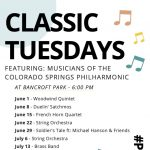 Classic Tuesdays presented by  at Bancroft Park in Old Colorado City, Colorado Springs CO