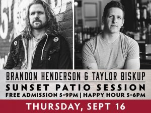 Brandon Henderson and Taylor Biskup presented by Boot Barn Hall at Boot Barn Hall at Bourbon Brothers, Colorado Springs CO