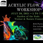 Monthly Art Night: Acrylic Flow Art presented by Garden of the Gods Visitor & Nature Center at Garden of the Gods Visitor and Nature Center, Colorado Springs CO