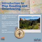 Intro to Map Reading and Orienteering presented by Garden of the Gods Visitor & Nature Center at Garden of the Gods Visitor and Nature Center, Colorado Springs CO