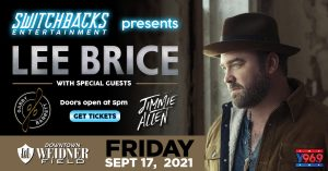 Lee Brice with Gabby Barret and Jimmie Allen presented by Peak Radar Live: Green Box Arts Festival at Weidner Field, Colorado Springs CO