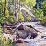 Waterfall and Rocks Watercolor Workshop presented by Westside Community Center at Westside Community Center, Colorado Springs CO
