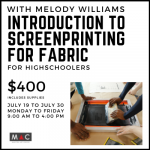 An Intro to Screen-printing for Fabric presented by Manitou Art Center at Manitou Art Center, Manitou Springs CO