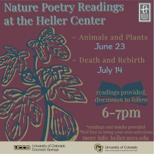 Nature Poetry: Plants and Animals presented by Heller Center for Arts and Humanities at UCCS at UCCS - The Heller Center, Colorado Springs CO