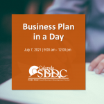 Business Plan in a Day presented by Pikes Peak Small Business Development Center at Online/Virtual Space, 0 0