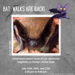 Bat Program and Walk presented by Garden of the Gods Visitor & Nature Center at Garden of the Gods Visitor and Nature Center, Colorado Springs CO