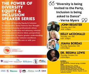 The Power of Diversity Equity & Inclusion Speaker Series presented by Peak Radar Live: Blues on the Mesa Festival at The Gold Room, Colorado Springs CO