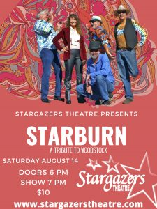 Starburn: A Tribute to Woodstock presented by Stargazers Theatre & Event Center at Stargazers Theatre & Event Center, Colorado Springs CO