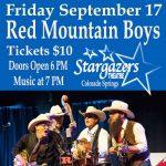 Red Mountain Boys presented by Stargazers Theatre & Event Center at Stargazers Theatre & Event Center, Colorado Springs CO