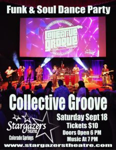 Collective Groove presented by Stargazers Theatre & Event Center at Stargazers Theatre & Event Center, Colorado Springs CO