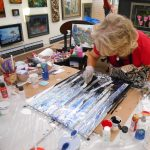 Liquid Acrylic Pour Class presented by Academy Art & Frame Company at Academy Frame Company, Colorado Springs CO