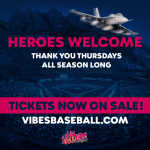 Thank You Thursday vs. Billings Mustangs presented by Rocky Mountain Vibes Baseball at UCHealth Park, Colorado Springs CO