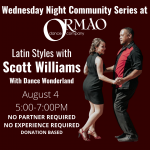 Latin Style with Scott Williams presented by Ormao Dance Company at Ormao Dance Company, Colorado Springs CO