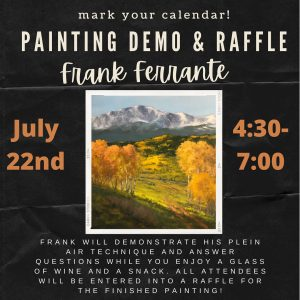 Painting Demo & Raffle presented by Warehouse Restaurant & Gallery at Warehouse Restaurant & Gallery, Colorado Springs CO