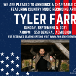 Tyler Farr: Benefiting Folds of Honor presented by Boot Barn Hall at Boot Barn Hall at Bourbon Brothers, Colorado Springs CO