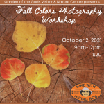 Fall Colors Photography Workshop presented by Garden of the Gods Visitor & Nature Center at Garden of the Gods Visitor and Nature Center, Colorado Springs CO