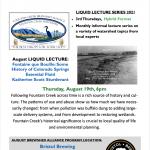 Fountain Creek Watershed District's Liquid Lecture presented by Fountain Creek Watershed District at Bristol Brewing Company, Colorado Springs CO