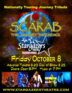 Scarab: The Journey Experience presented by Stargazers Theatre & Event Center at Stargazers Theatre & Event Center, Colorado Springs CO
