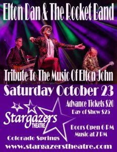 Elton Dan & the Rocket Band presented by Stargazers Theatre & Event Center at Stargazers Theatre & Event Center, Colorado Springs CO