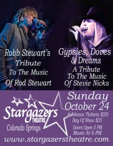 Gypsies, Doves, & Dreams: Fleetwood Mac Tribute presented by Stargazers Theatre & Event Center at Stargazers Theatre & Event Center, Colorado Springs CO