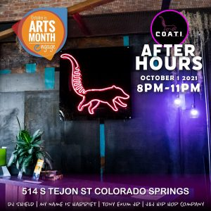 Arts Month After Hours presented by Colorado Springs Black Business Network at CO.A.T.I. Uprise, Colorado Springs CO