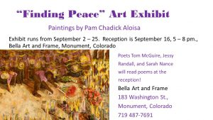 'Finding Peace' presented by Bella Art and Frame at Bella Art and Frame Gallery, Monument CO