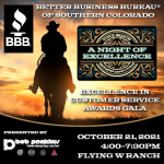 A Night Of Excellence presented by Better Business Bureau of Southern Colorado at Flying W Ranch, Colorado Springs CO