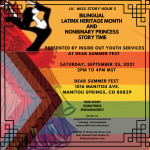Bilingual Latinx Heritage Month and Non-binary Princess Story Time presented by  at ,