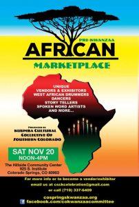 African Marketplace and Cultural Festival presented by Día de los Muertos Celebration at Hillside Community Center, Colorado Springs CO