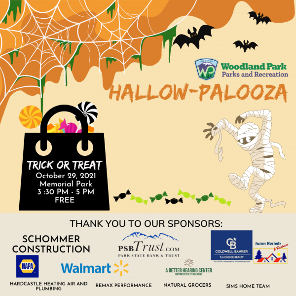 Trick or Treat in Memorial Park presented by City of Woodland Park at Memorial Park, Woodland Park, Woodland Park CO