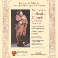 Flamenco with Soul and Duende Company from Spain: A Night of Passion, Fervor, and Artistry presented by Manitou Bindu at Manitou Bindu, Manitou Springs CO