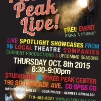 Pikes Peak Live – a Spotlight on Local Theatre presented by Studio Bee at Pikes Peak Center at Studio Bee at Pikes Peak Center, Colorado Springs CO
