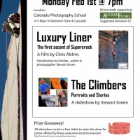 Rock Climbing movie & slideshow with Stewart Green presented by Independent Film Society of Colorado at ,